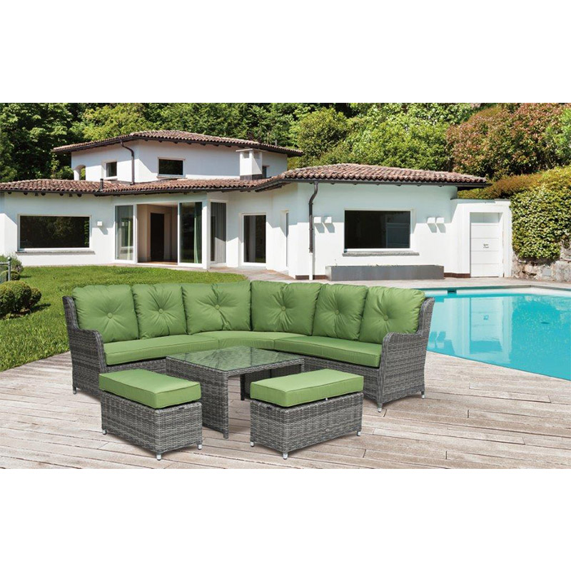 Seville Large Corner set with High Dining Table