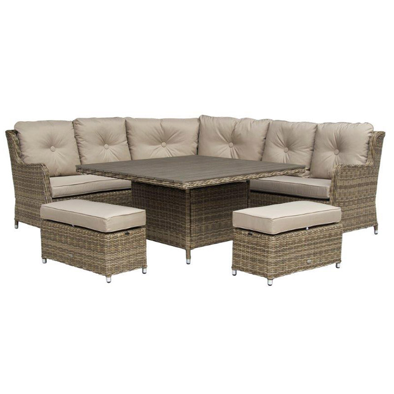 katie blake seville large corner set with high dining table
