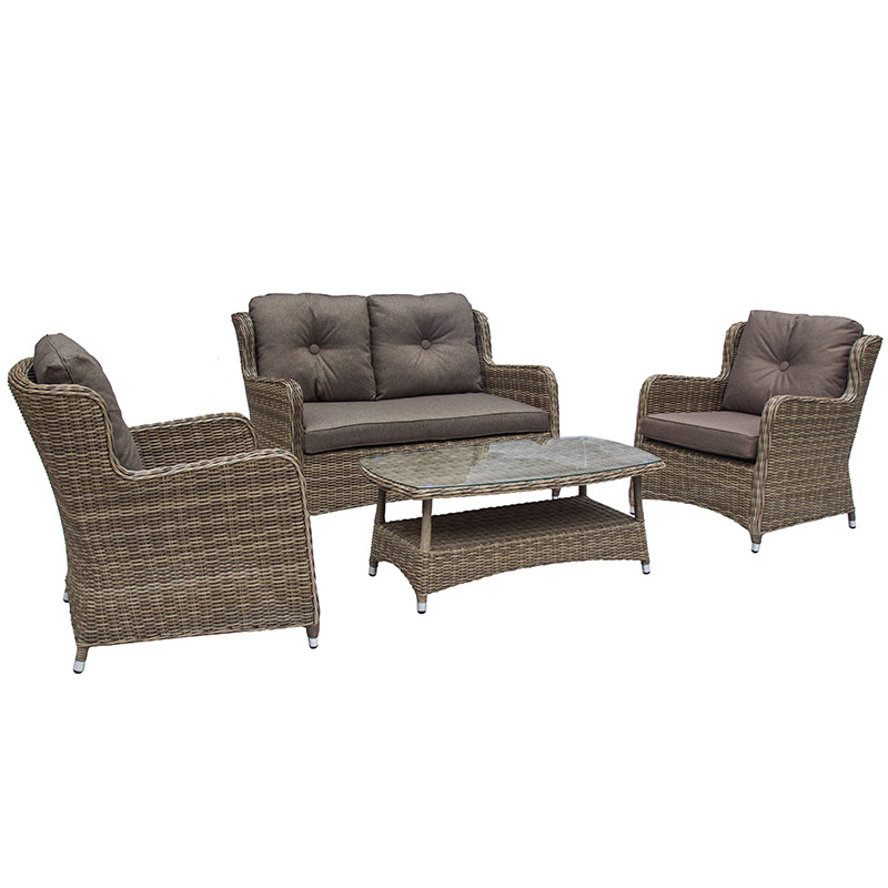 Seville 2 Seat Sofa with Coffee Table