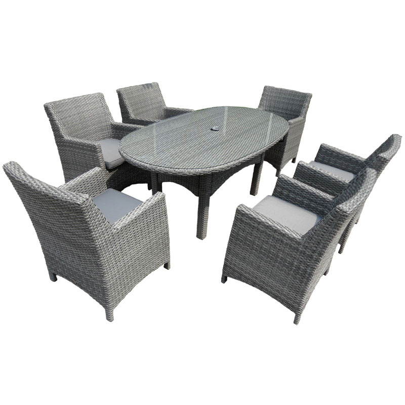 Havana 6 Seat Armchair Dining Set oval