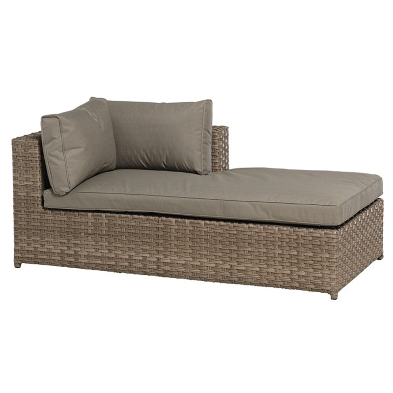 Katie blake havana chaise lounge unit brown for Brown chaise longue