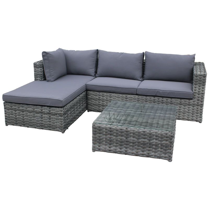 Havana Chaise Lounge Unit Cool Grey