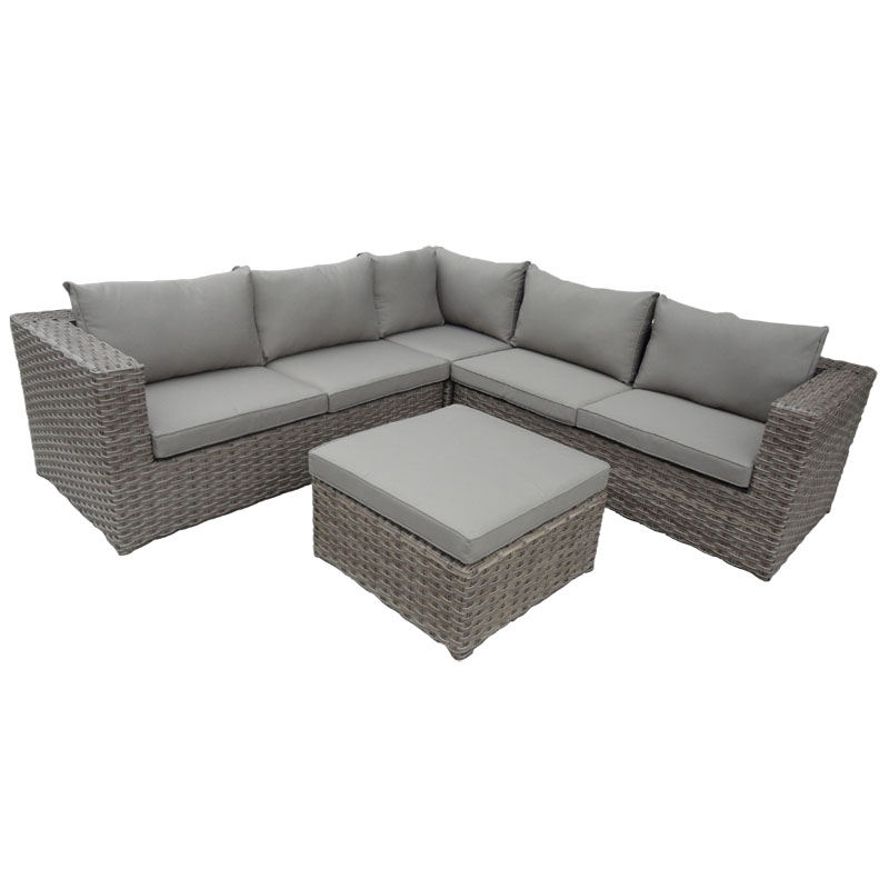 Havana Corner Unit with Cushion Corner Soft Brown