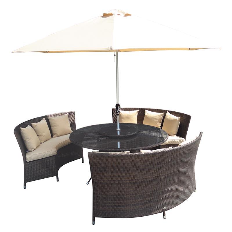 katie blake sandringham curved sofa dining set round brown
