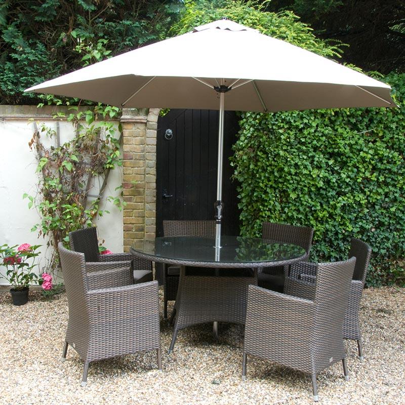 Sandringham 6 Seat Armchair Dining Set Round