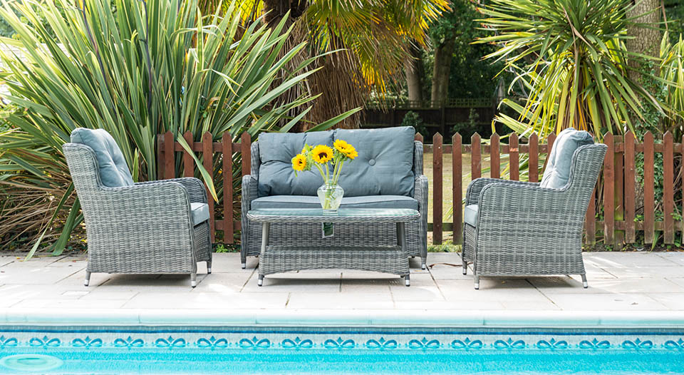 Seville 2 Seater Sofa Set with Chairs