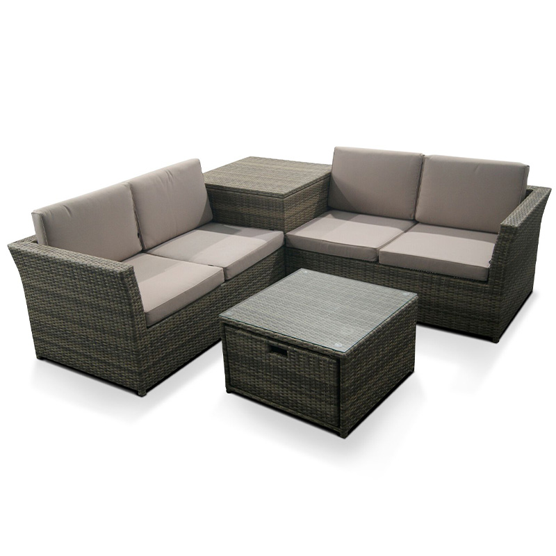 Sandringham Corner unit with Cushion Storage Corner.