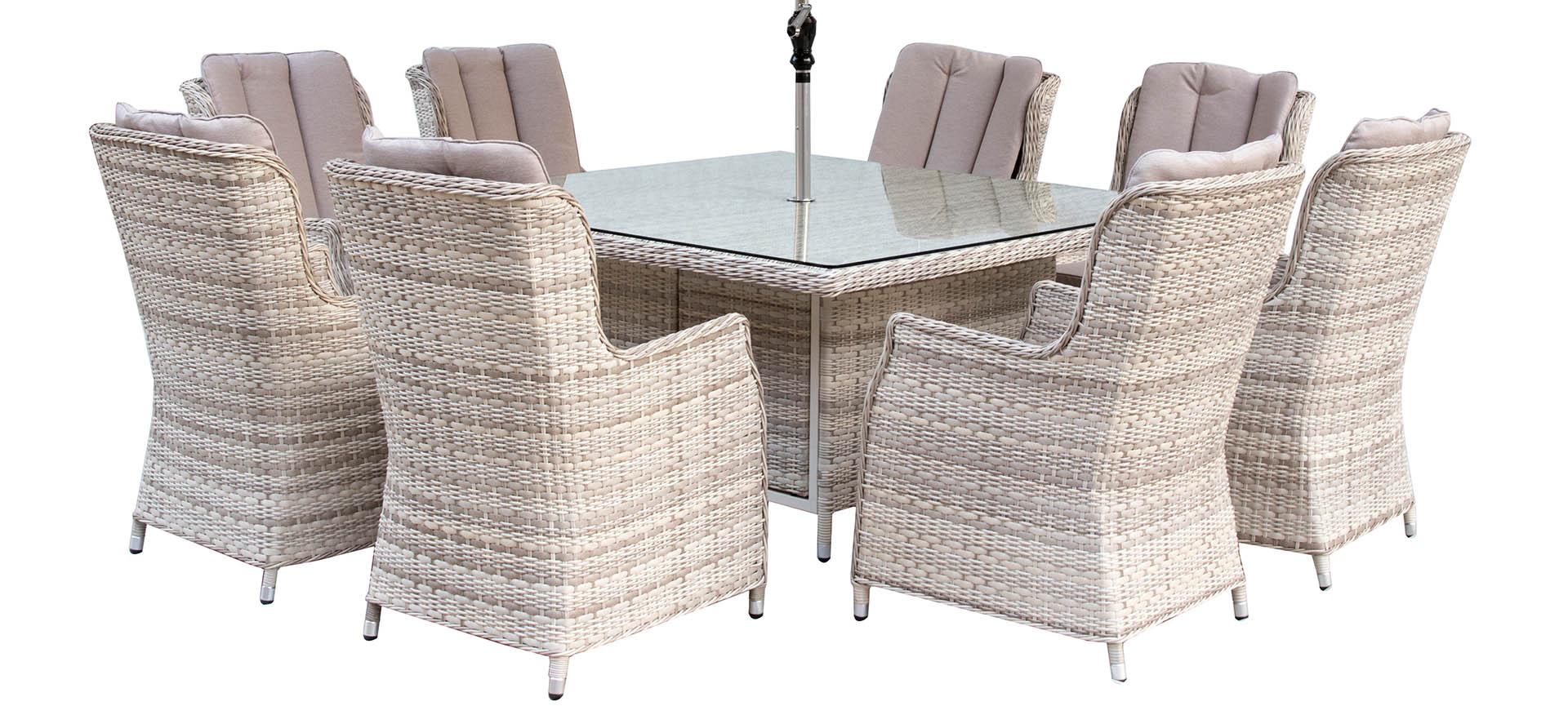 Melbourne 8 Chair Set