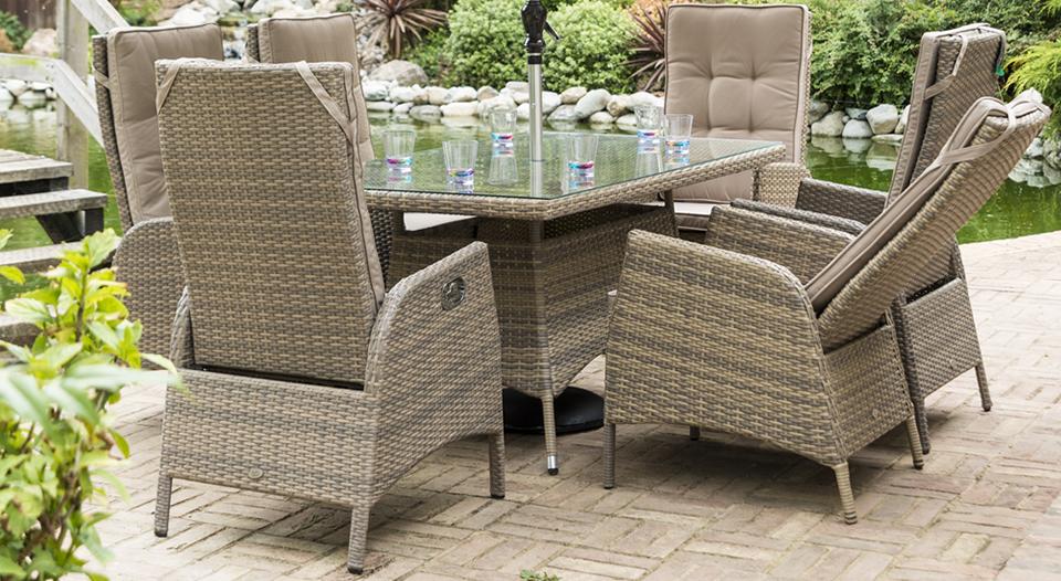Sandringham 6 Chair Rectangular Reclining Set