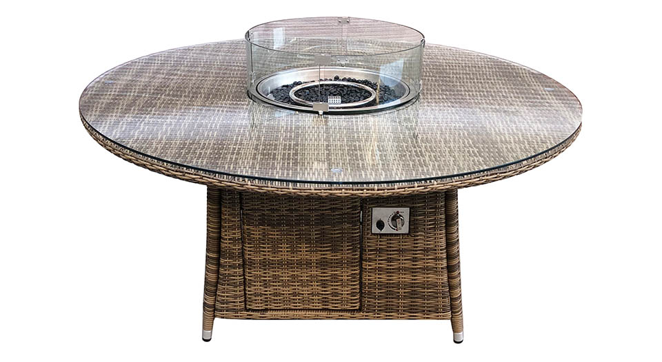 Seville Round Fire Pit Table