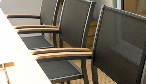 Aluminium 8 Armchair Polywood Set