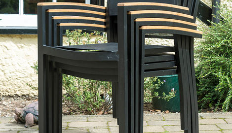 Aluminium 4 Armchair Polywood Set