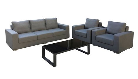 Outdoor Fabric Sofa Set with Armchairs